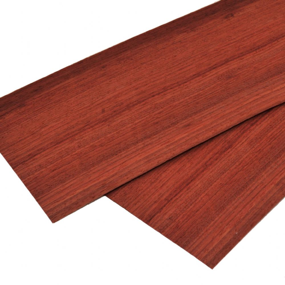 "Padauk real wood veneer. Set of 2 leafs: 21"" x 7"" ( 54 x 18  cm )"